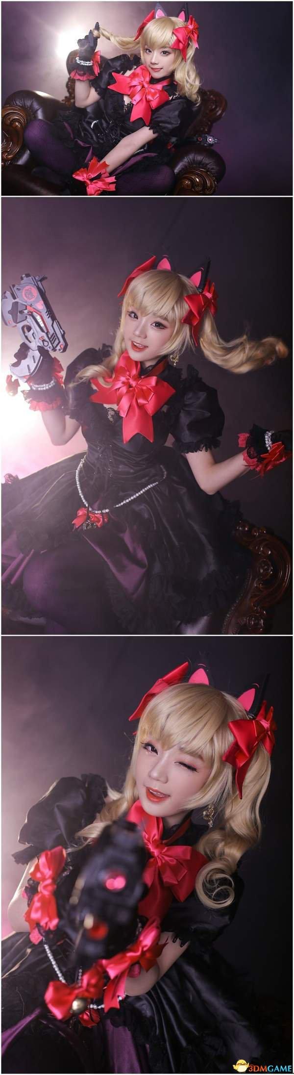 美女Cos《守望先锋》黑猫D.va 肤白貌美身材火辣
