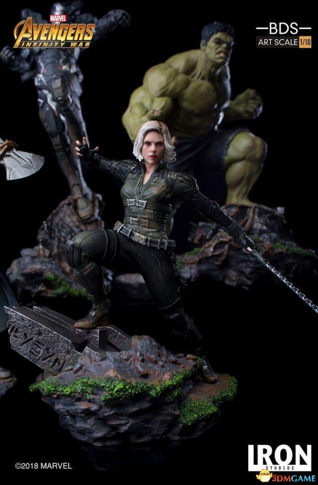 《复仇者聯盟3》黑寡婦雕像 金發翹臀性感逼真