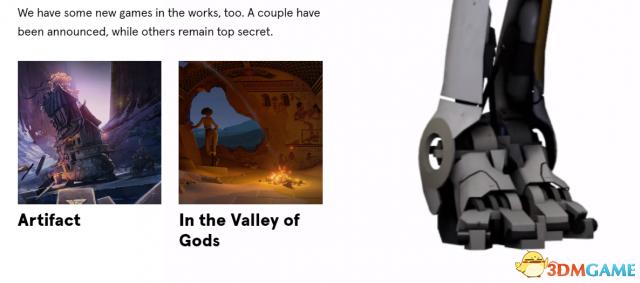 Valve全新官网上线 正在开发全新游戏 高度机密
