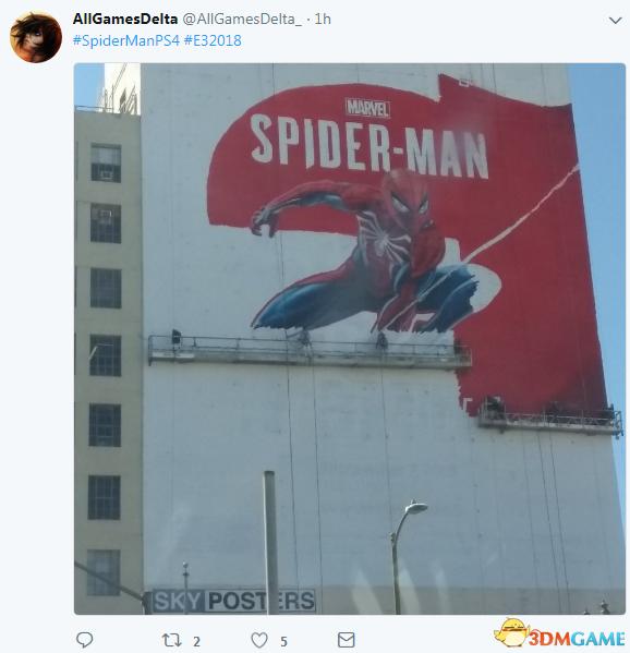E3 2018《蜘蛛侠》巨幅墙绘曝光 蜘蛛侠帅气亮相