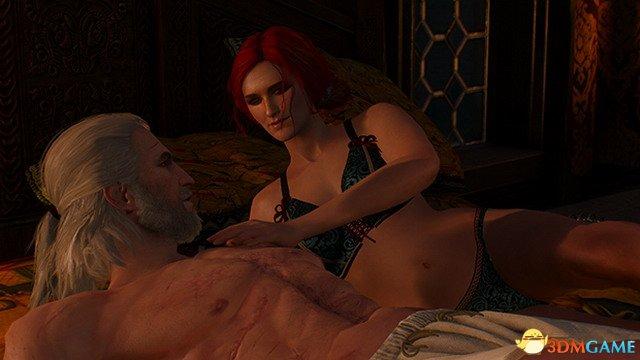 《巫师3》浪漫截图欣赏 杰洛特和特莉丝狂秀恩爱