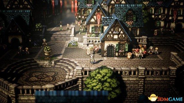 Switch独占《八方旅人》全新截图及世界地图展示