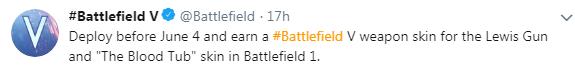 《战地5》 刘易斯式轻机枪皮肤曝光 可玩战地1获得