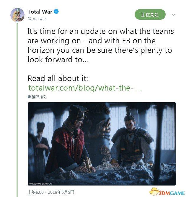 让人期待 《全面战争:三国》新情报将在E3放出
