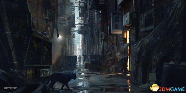 《底特律:变人》大神级澳门皇冠官网原画 绝美的科幻世界
