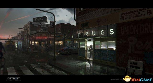 《底特律:变人》大神级游戏原画 绝美的科幻世界
