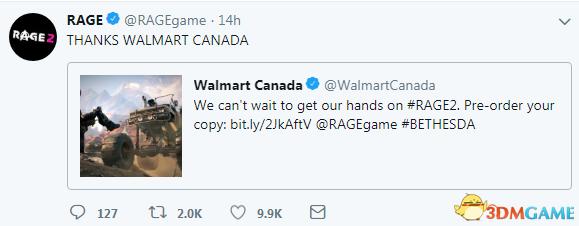 《狂怒2》在加拿大沃尔玛开启预购 官方表示感谢