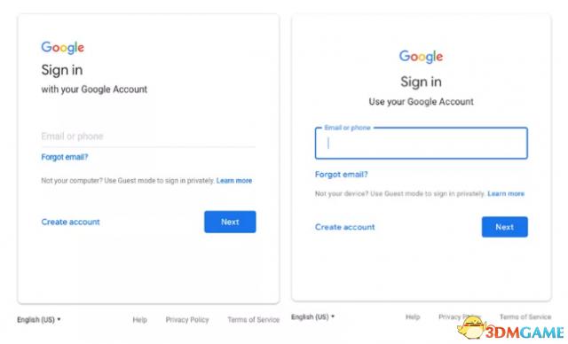 Google帐户登录界面将在下周启用材料设计语言