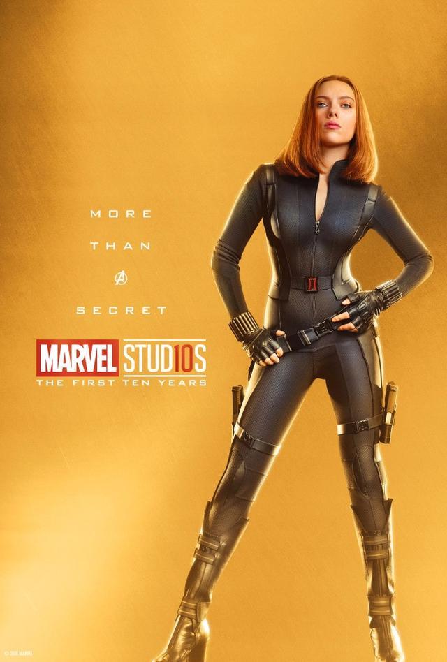漫威发布十周年角色全套海报 寡姐螳螂女身材棒