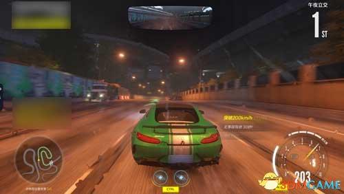 弯曲弯曲的高速赛道,极品飞车OL午夜立交赛道跑法