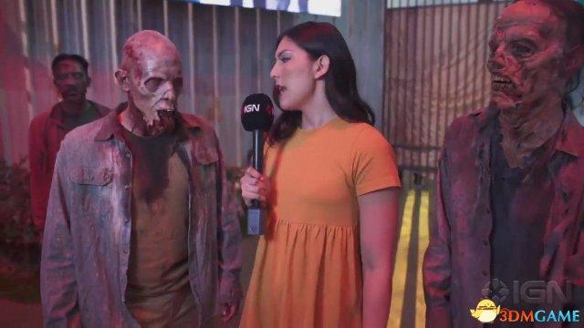 E3:IGN美女探访《超杀:行尸走肉》展区 采访丧尸
