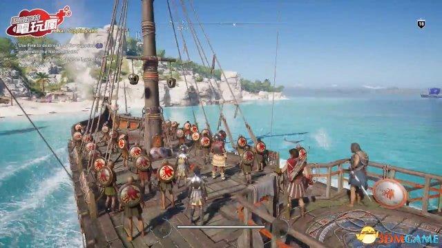 《刺客信条:奥德赛》主线、海战和征服模式演示