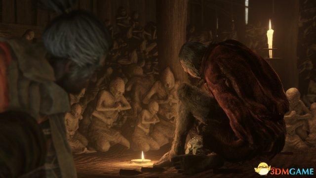 落敗的主角被寺廟的佛師所救