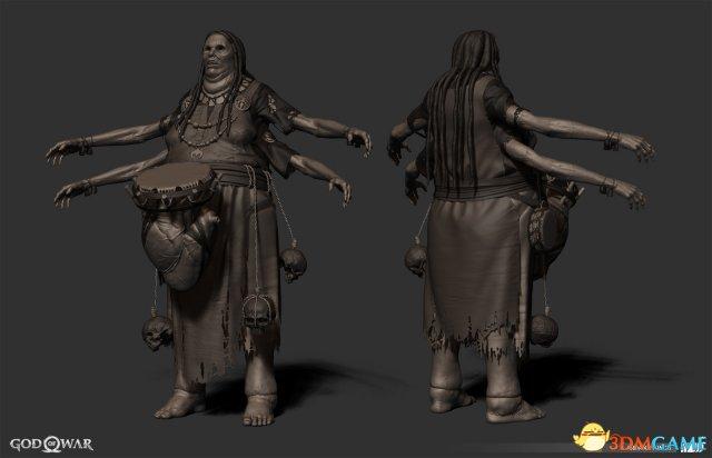 《战神4》原画欣赏 这些恐怖敌人在游戏中未出现