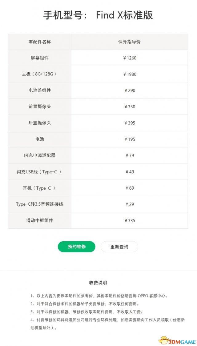价格公道 OPPO Find X与vivo NEX维修成本公布