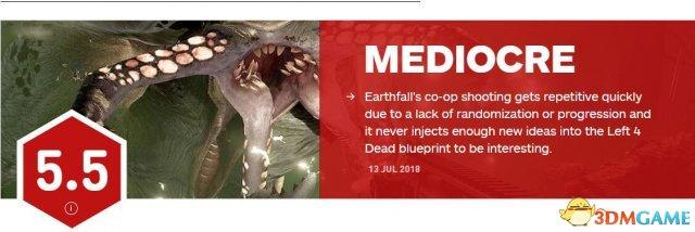 《地球陨落》IGN 5.5分 还不如十年前的求生之路