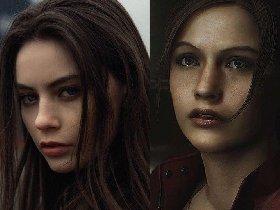 《生化危机2》重制版克莱尔脸模美照 性感吸睛