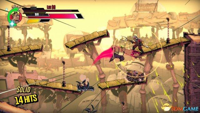 超精细手绘2D动作横板动作游戏《速度斗殴》视频