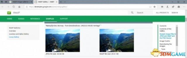 Microsoft Edge浏览器也开始支持WebP图像格式