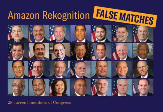 亚马逊面部识别闹乌龙:把28名国会议员认成罪犯