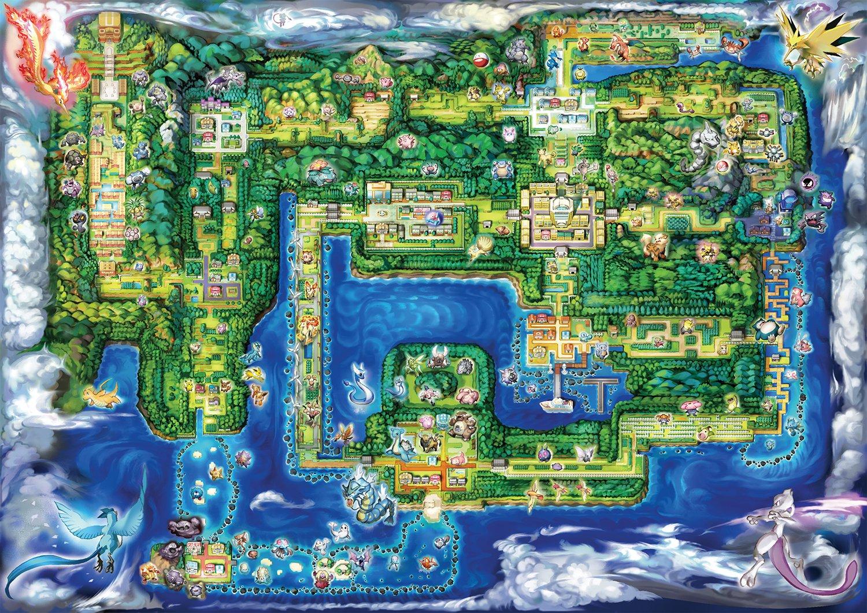 游戏新消息:Switch精灵宝可梦Let'sGo关东地图经过重新设计对比旧版简直惨不忍睹