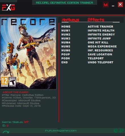《再生核心》v1.1.7468七项修改器FutureX版