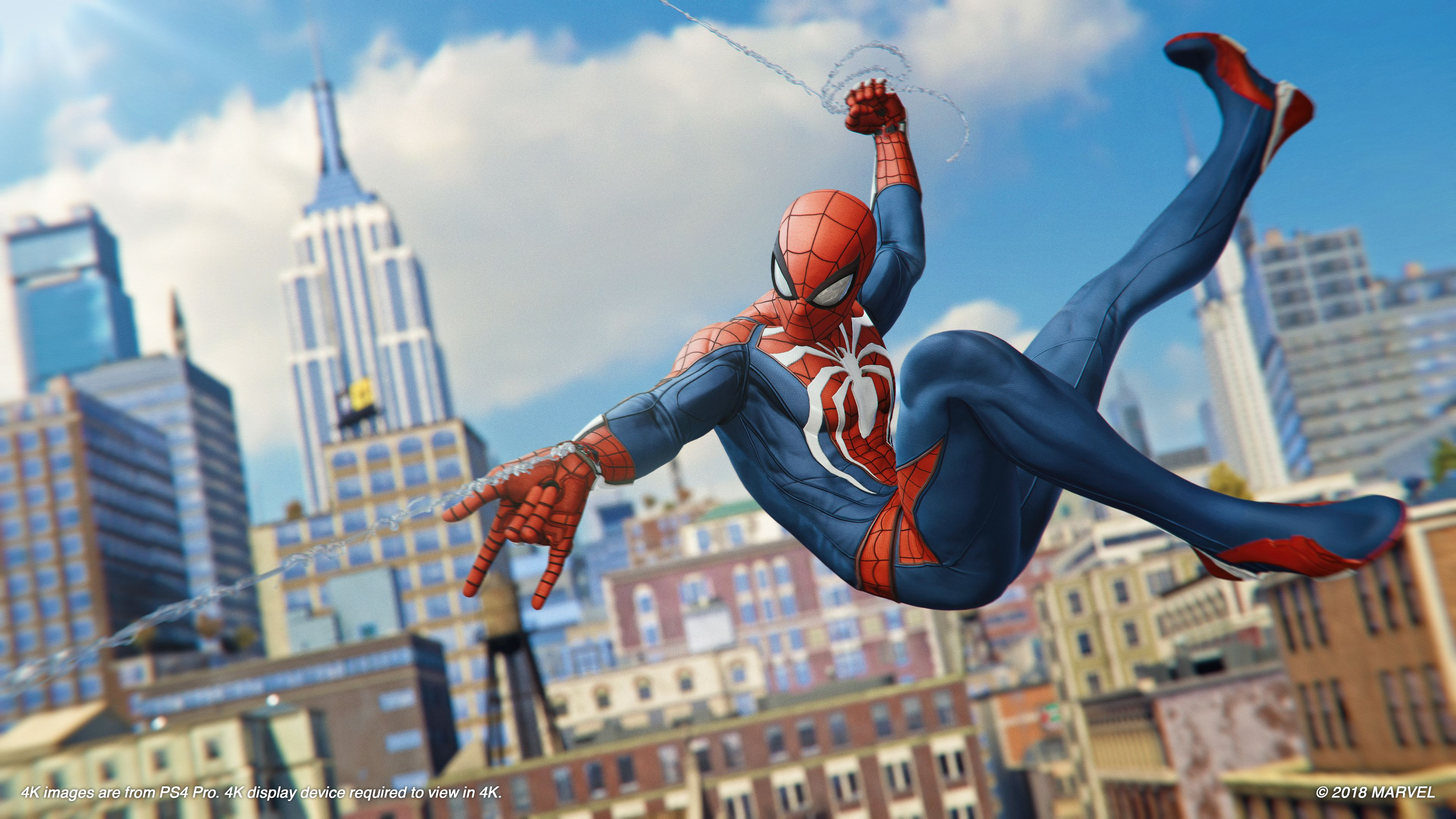 新闻资讯_PS4《蜘蛛侠》新高清截图放出 蜘蛛侠在城中飞荡战斗_3DM单机