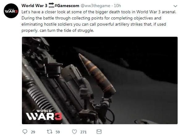 《第三次世界大战》官方新演示 致命火炮扭转战局