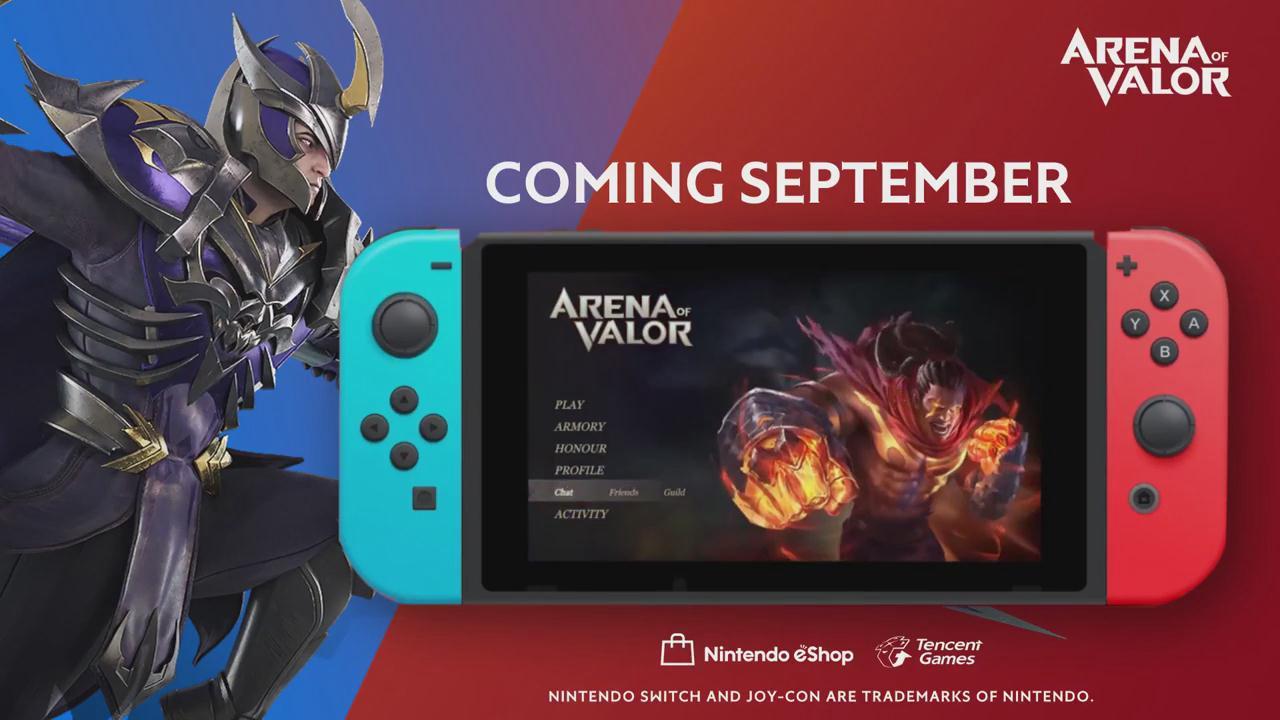 《王者荣耀》Switch版将于9月发售 火爆预告片公布
