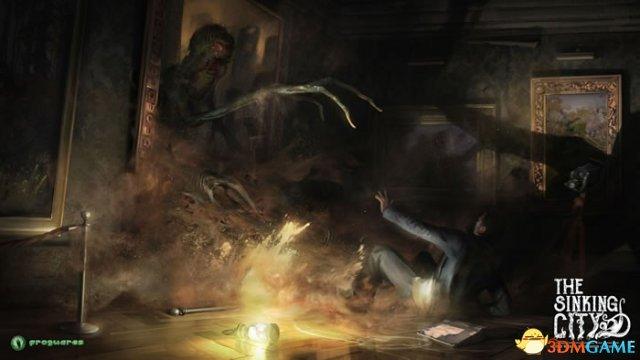 场面阴暗恐怖 沙盒冒险游戏《沉没之城》最新原画