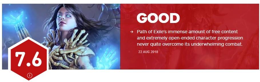 《流放之路》IGN 7.6分 免费也救不了平庸的战斗