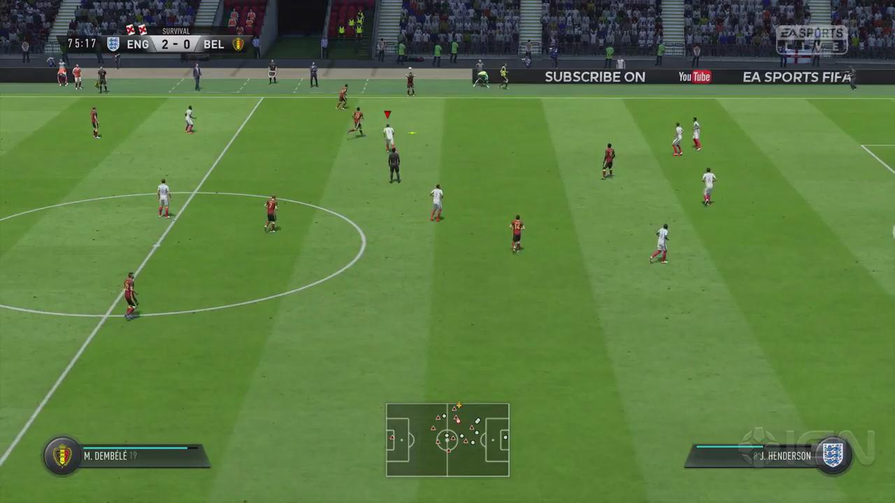 《FIFA 19》求生模式完整比赛演示 英格兰VS比利时