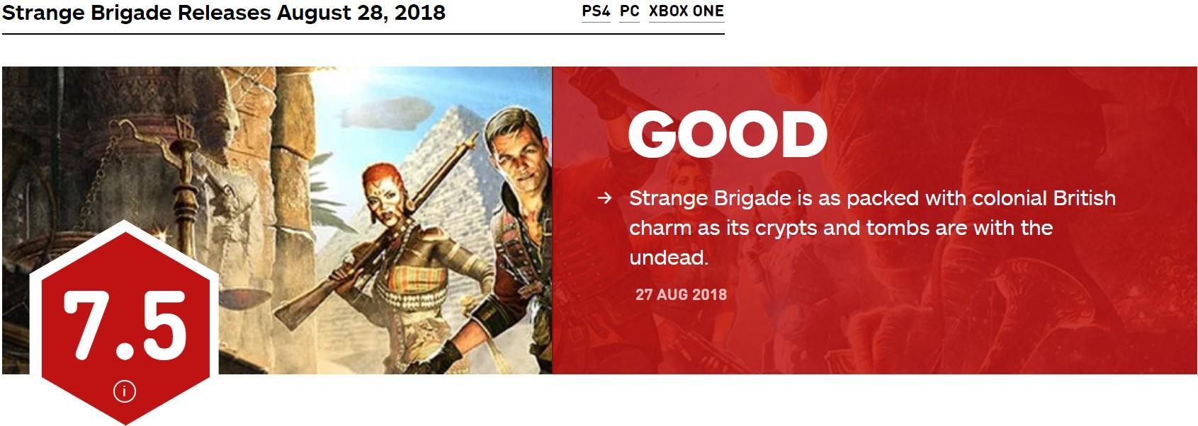 《异域奇兵》IGN 7.5分 魅力十足的第三人称射击