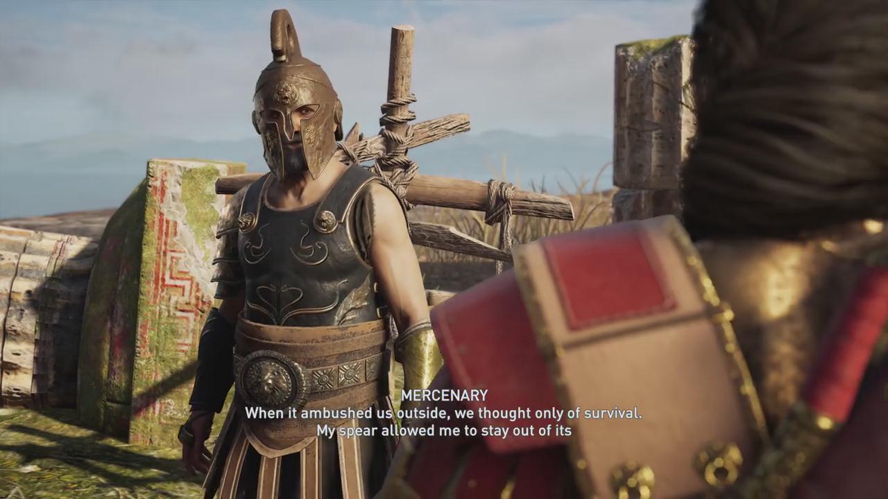 《刺客信条:奥德赛》主角激战美杜莎 不小心就被石化
