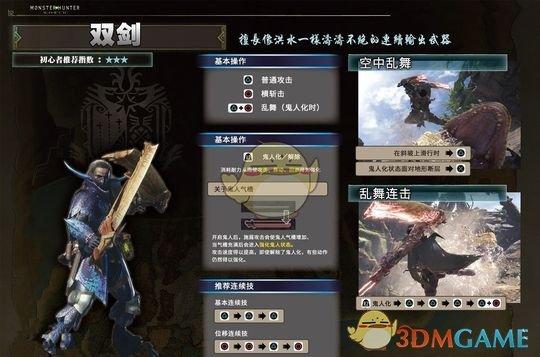 《怪物猎人:世界》双刀新手使用心得以及改动