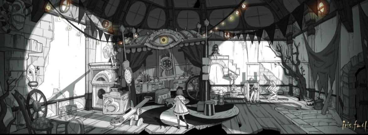 黑白光影演绎国产黑暗童话,《彩虹坠入》亮相科隆游戏展