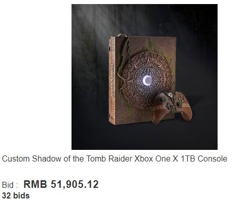 《古墓丽影:暗影》定制版XB1X售价超5万元 宣传片炫酷