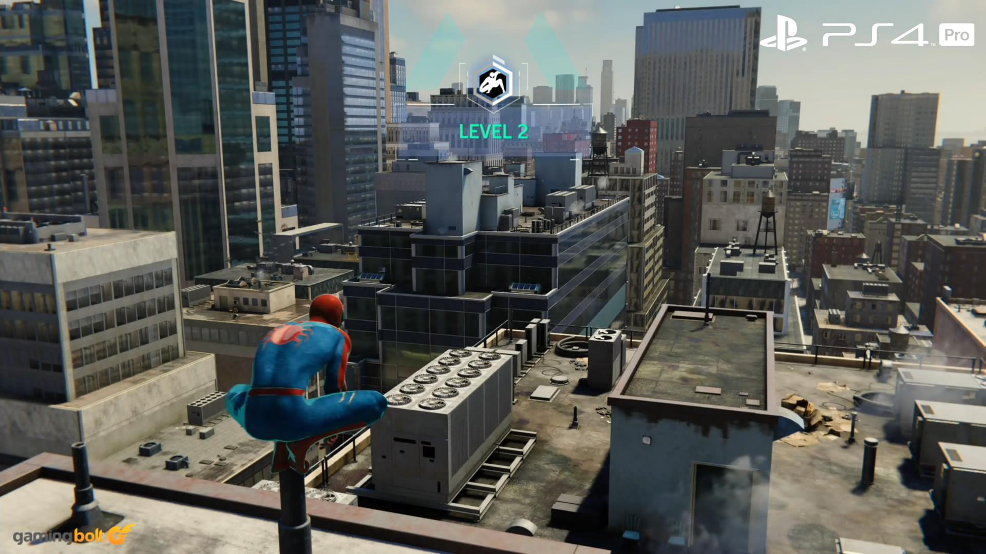 《蜘蛛俠》PS4和PS4 Pro版畫面對比 后者畫面更精美