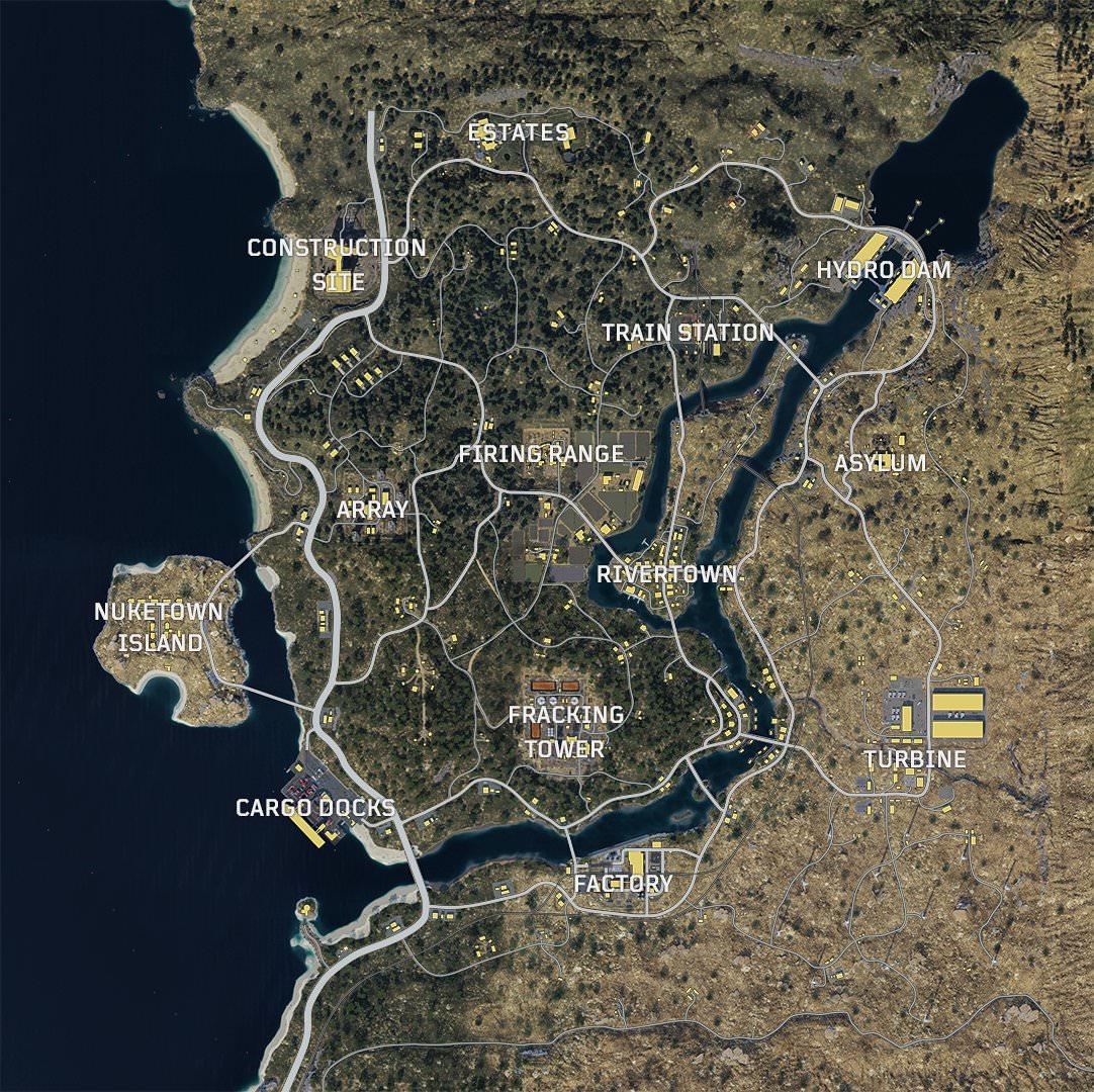 《使命召唤15》大逃杀模式完整地图曝光 真的很大