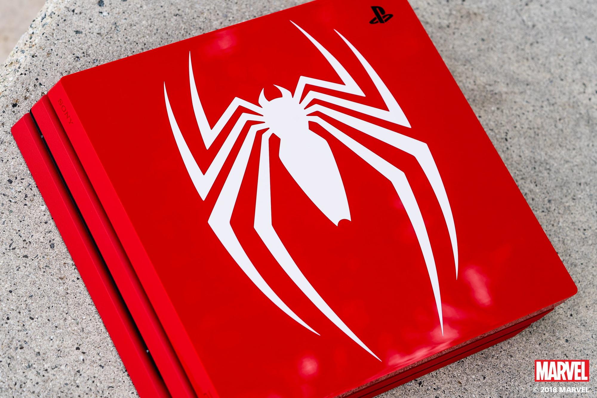 《蜘蛛侠》主题PS4 Pro主机图赏 霸气无比骨灰粉必入