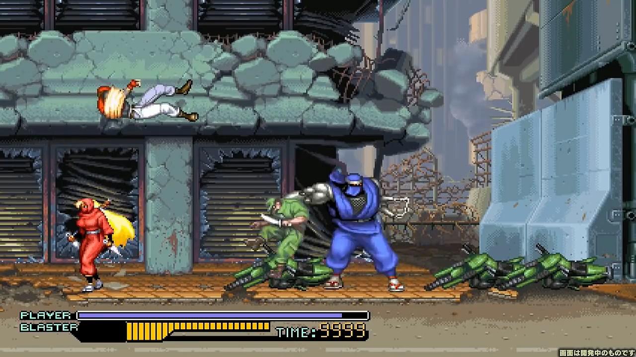 SFC经典《忍者战士》新增角色及双人玩法登陆Switch