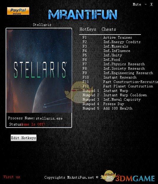 《群星》v2.1.3十六项修改器[MrAntiFun]