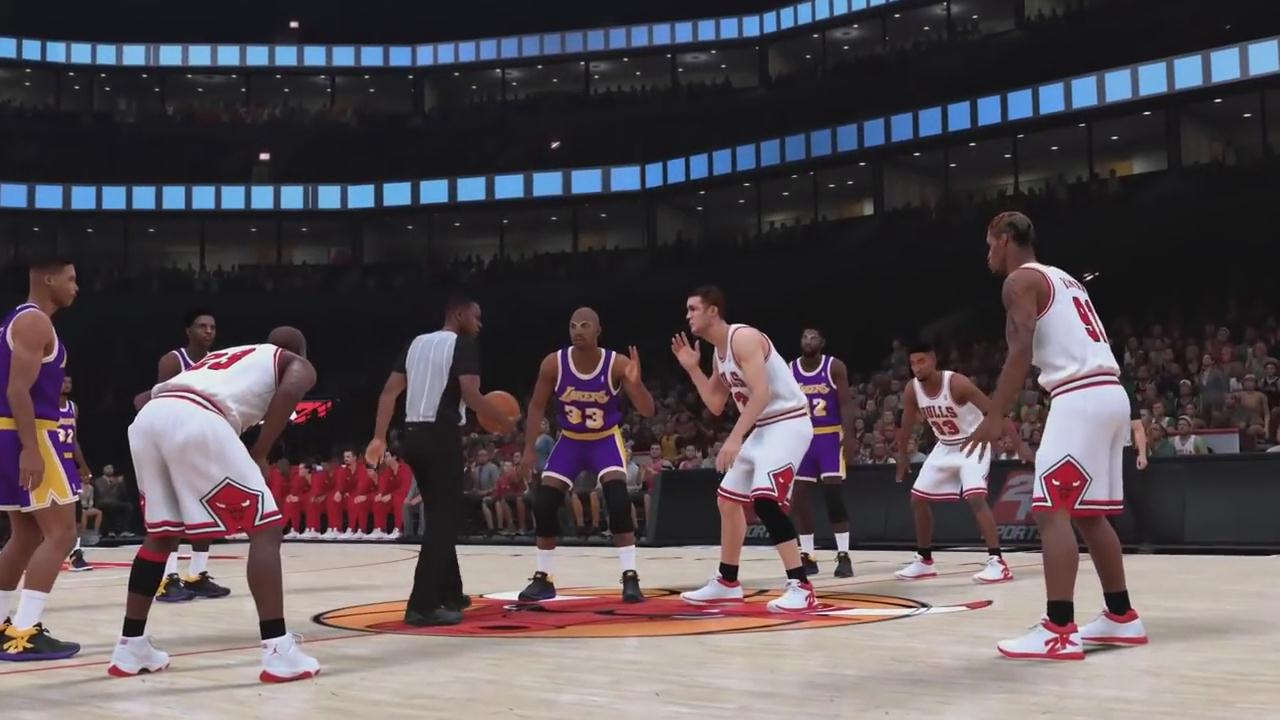 《NBA 2K19》全新演示 95-96公牛 乔丹高难度得分