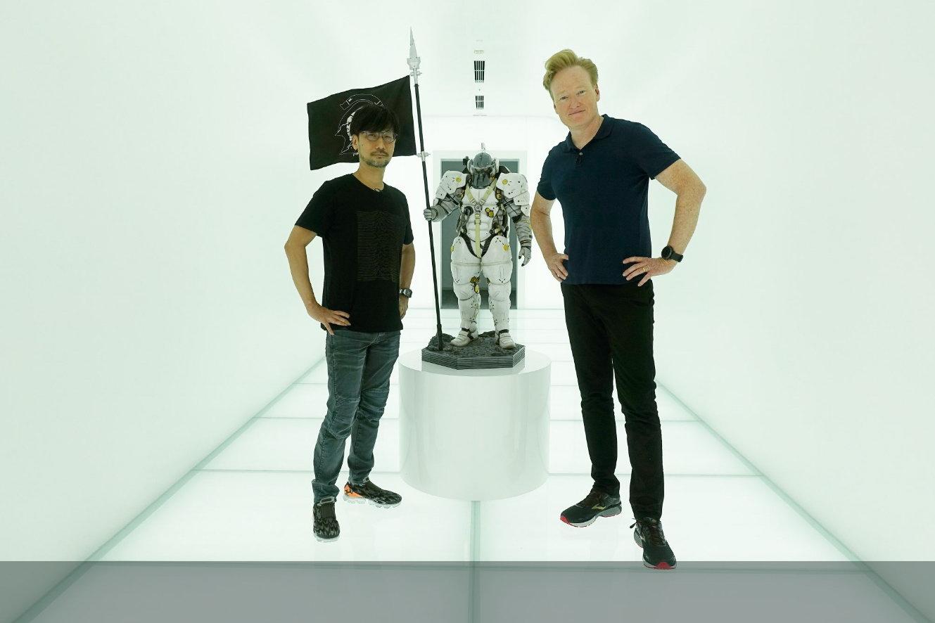 美国脱口秀主持人柯南参观小岛秀夫工作室 要跨界合作?