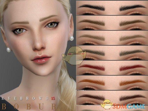 《模拟人生4》多款纤细的女性眉毛MOD