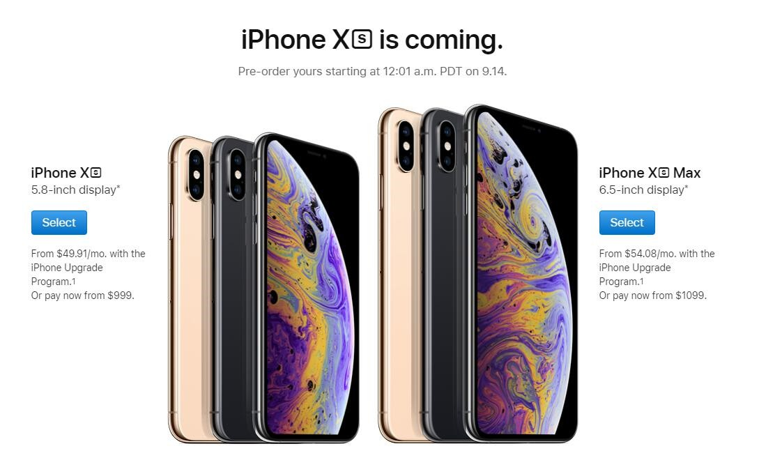 iPhone XS/XS Max/XR各地区售价对比 国行12799元