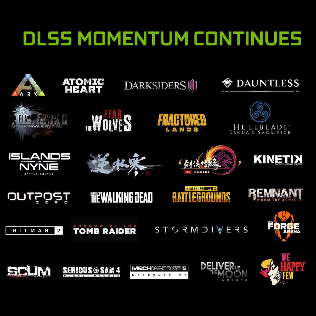 又有九款遊戲將支援英偉達N卡DLSS技術 畫面流暢無比