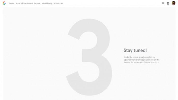 谷歌在其官方商店展示Pixel 3活动邀请页面