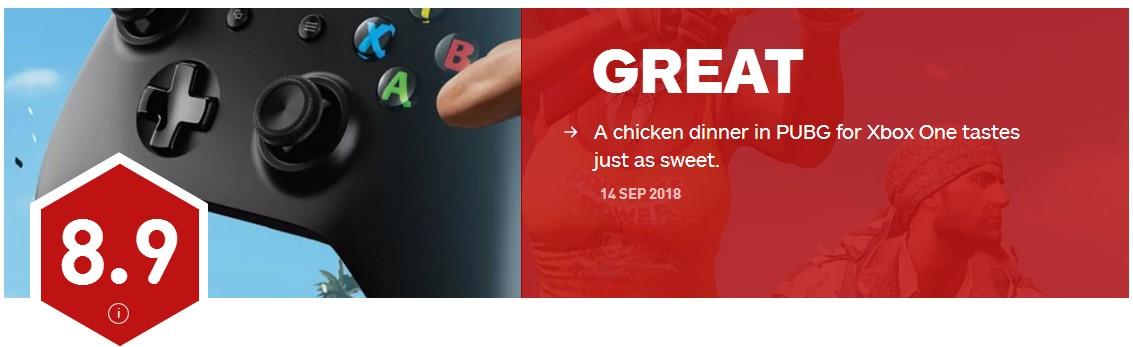 """《绝地求生》Xbox One版IGN 8.9分 """"鸡""""一样美味"""