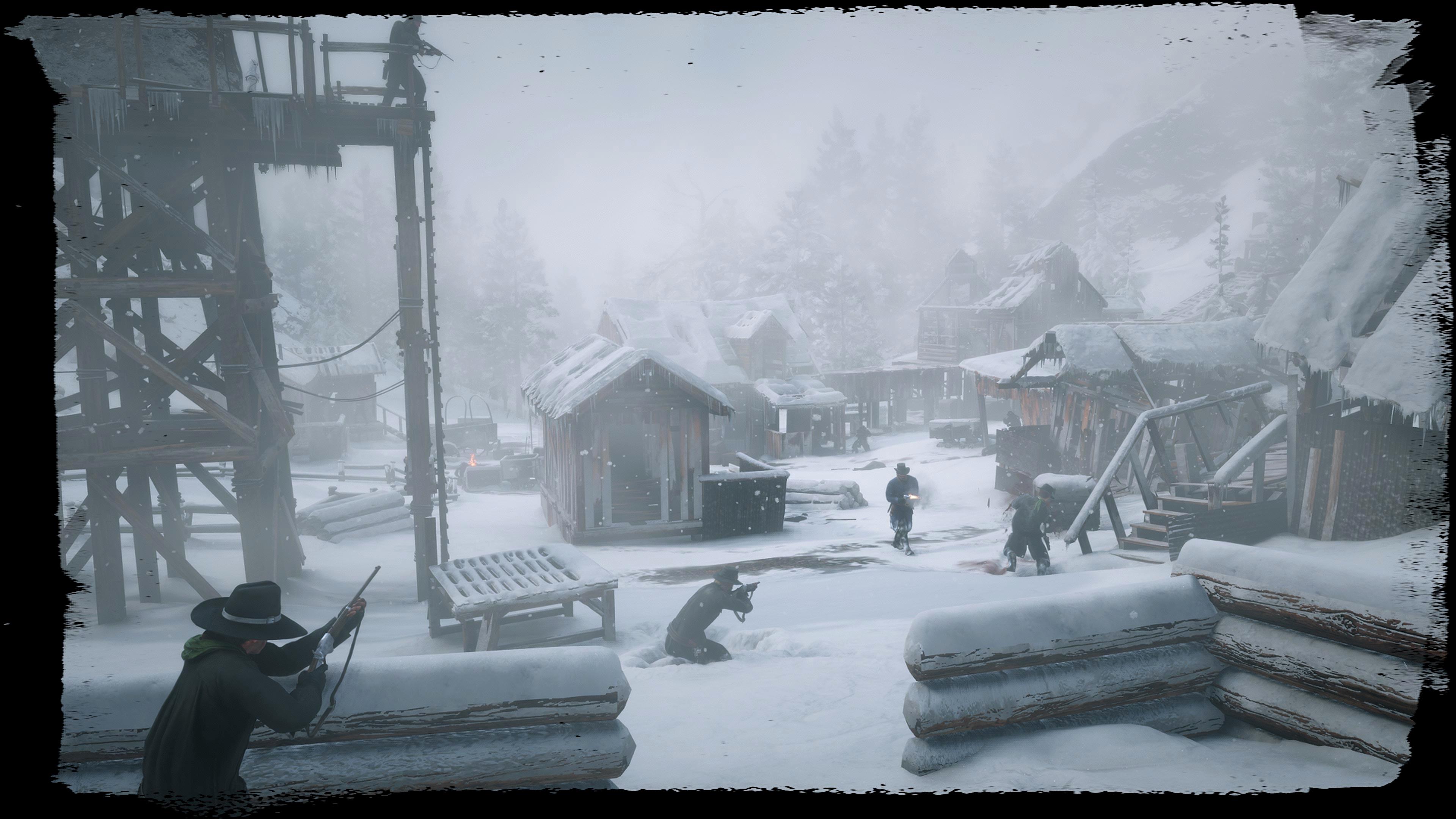 《荒野大镖客2》高清新截图放出 在美国西部激爽枪战